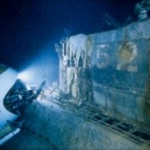 Titanic la collision avec l iceberg for Titanic epave interieur