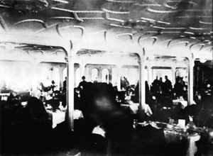 la salle a manger des premiere classe du titanic