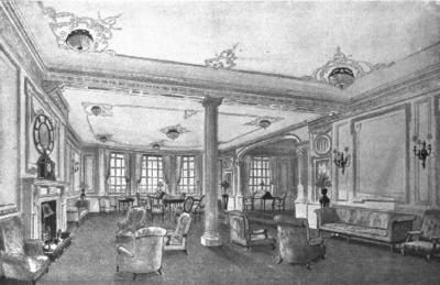 Titanic la salle de lecture for La salle de bain du titanic