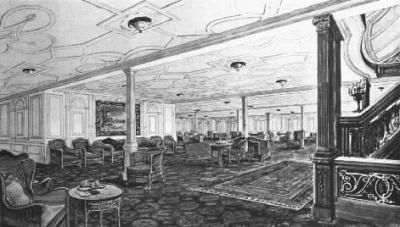 titanic la salle de reception du titanic On la salle de bain du titanic