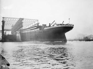 le lancement du titanic