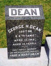 Le naufragé du Titanic George Dean