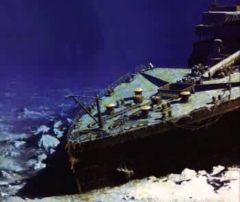 Les causes physiques biologiques de l epave du titanic for Titanic epave interieur