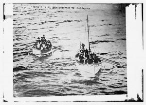 canots de sauvetage du Titanic.